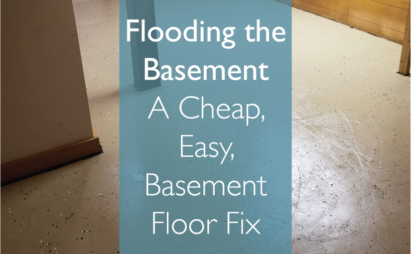 Flooding the Basement – Something We Did Very Right