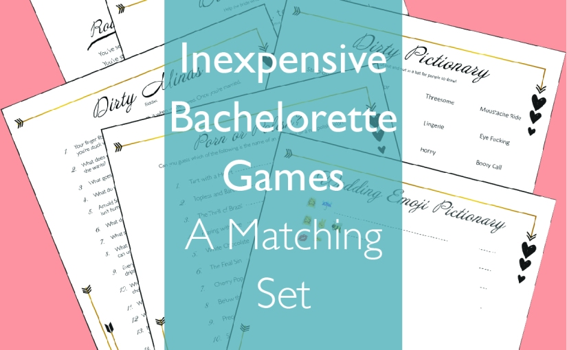 Inexpensive Bachelorette Games and Puzzles: A Matching Set