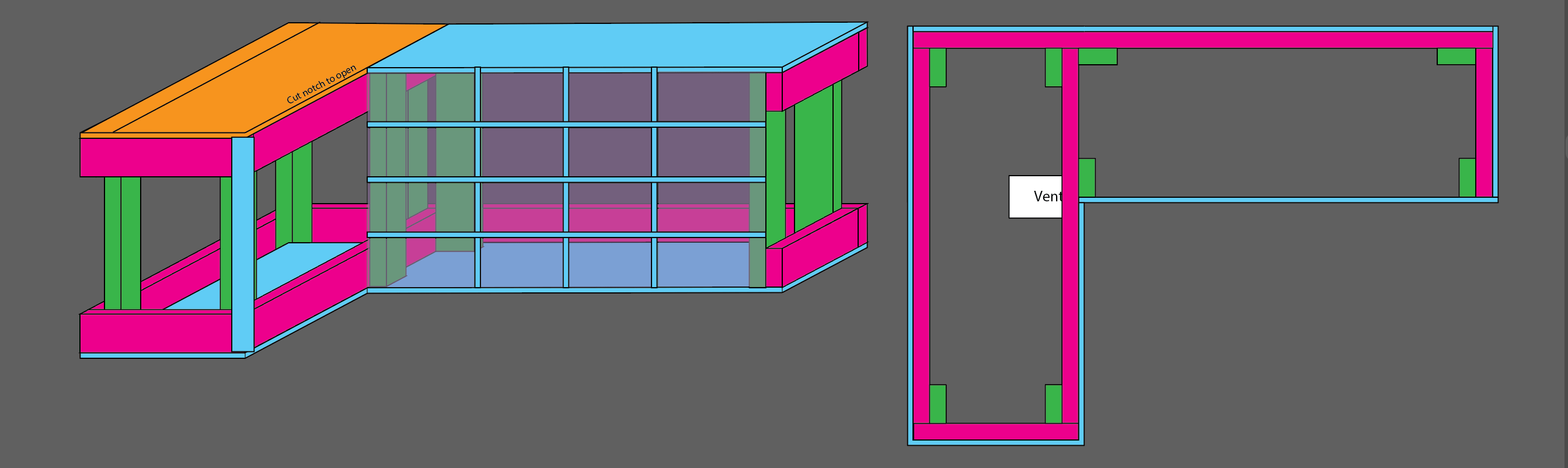 Vector image of the bench plans