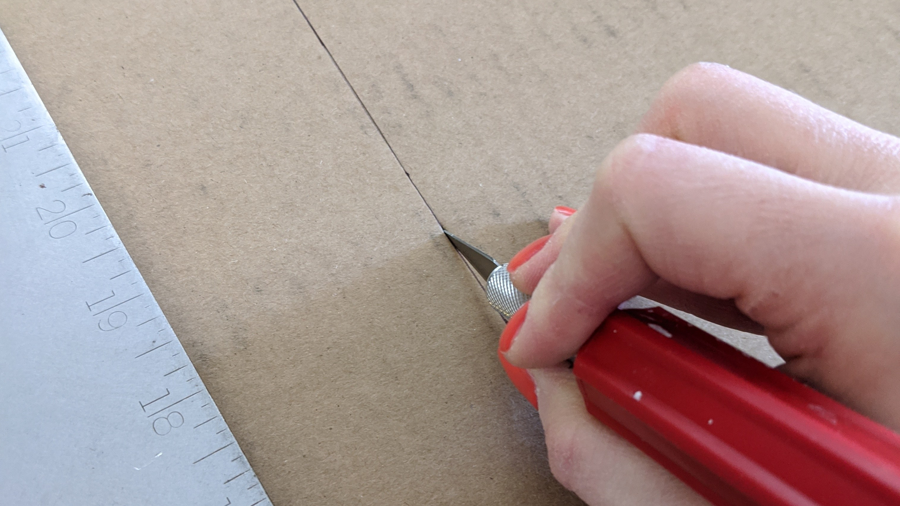 Cutting with the x-acto
